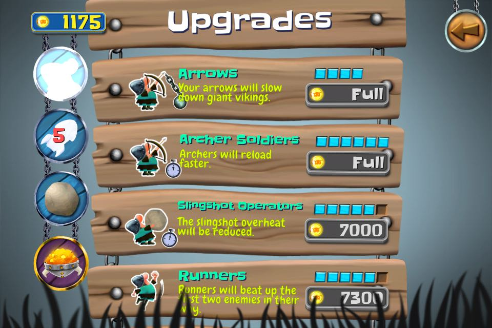 Fully upgraded arrows can sow down the vikings (it comes with price as always)