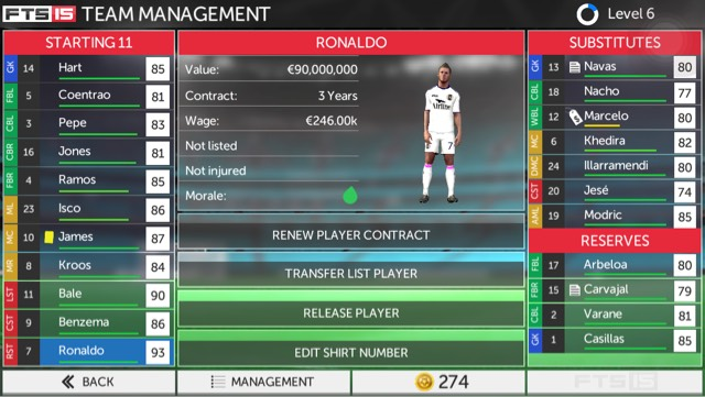 Sell unused players that eat away your club budget