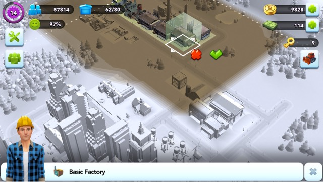 Put factory as far as possible so it won't affect the residents