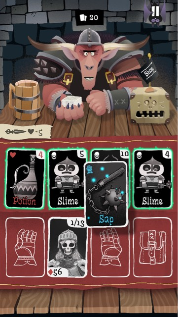spring solitaire card game - card crawl2