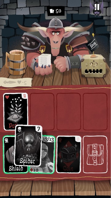 spring solitaire card game - card crawl1