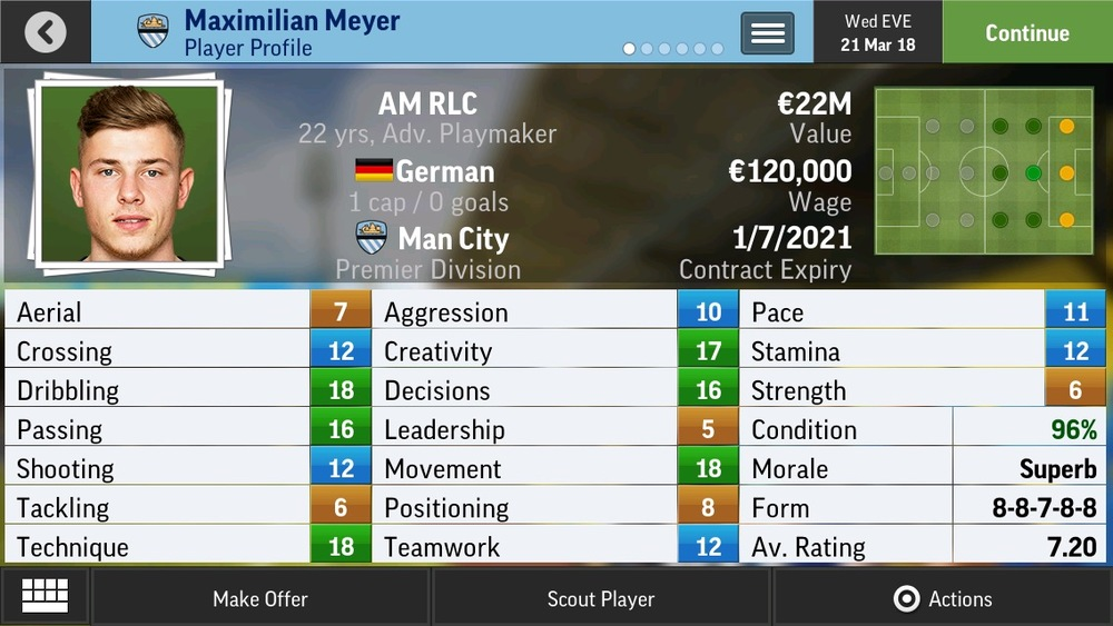 Maximilian Meyer AM RLC Adv Playmaker - Gelsenkirchen - 19 yrs €10.5M - €37.5M