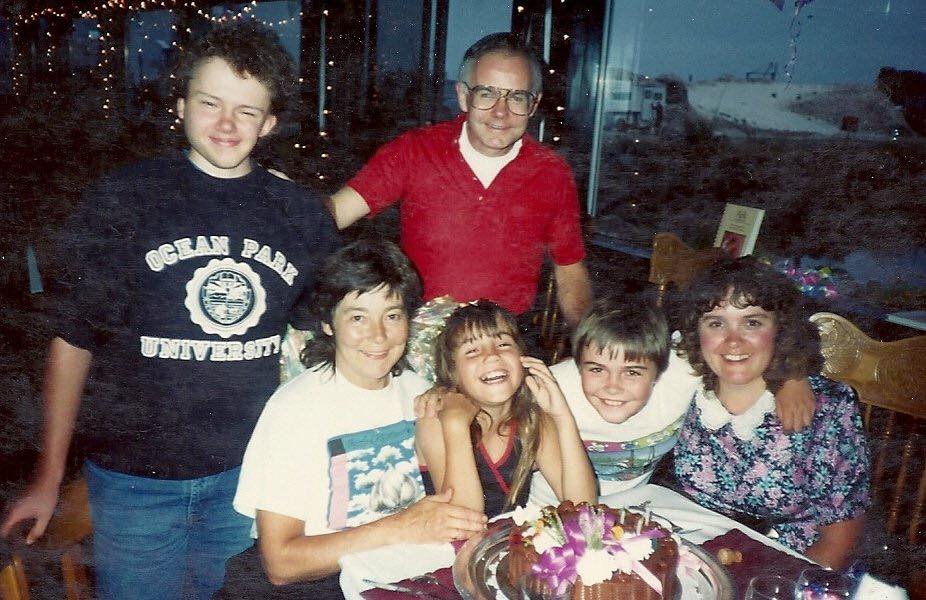 Anna's 9th Birthday with her family and long lost Aunt Jimella in Jimella's wonderful restaurant, The Ark.    Cir 1990