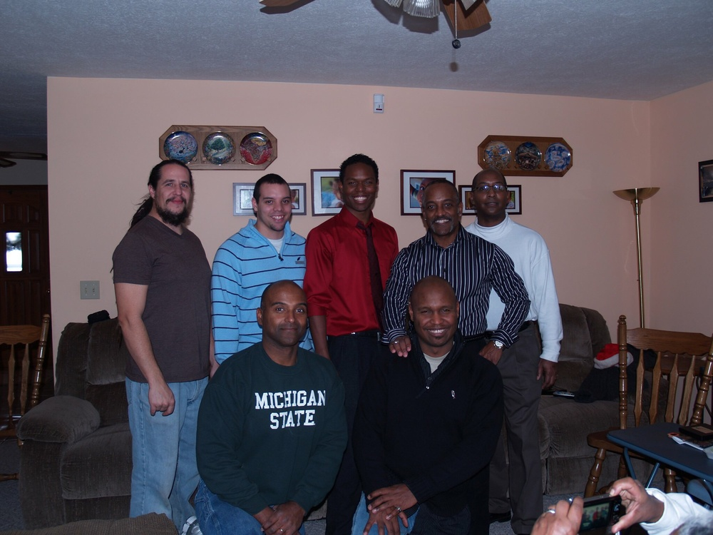 Went home for Christmas. These are the Williams men (My mothers side)
