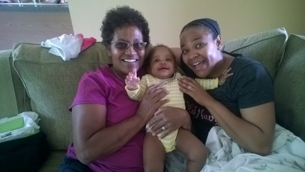 My 3 women: my mom, my wife, and my daughter, 2014