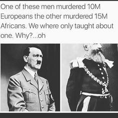 Hitler: 10M Europeans/Leopold: 15M Africans