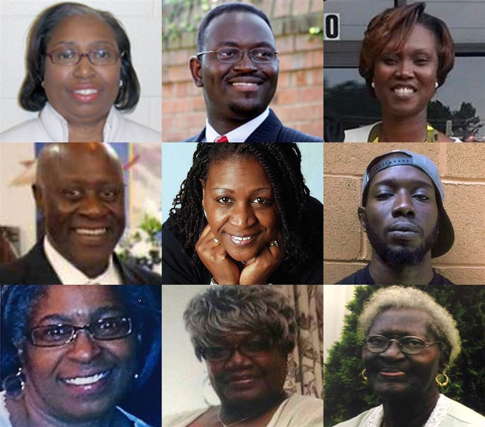 9 people died in Charleston, SC.: 1 manager of Charles county liberal system, 1 pastor/ school administrator and admissions coordinator at Southern Wesleyan University, 1 senior pastor/ state senator, 1 pastor, 1 pastor/ speech therapist/track coach, 1 bible study teacher, 1 Bible study member/ choir director, 1 church sexton ( https://en.m.wikipedia.org/wiki/Charleston_church_shooting )
