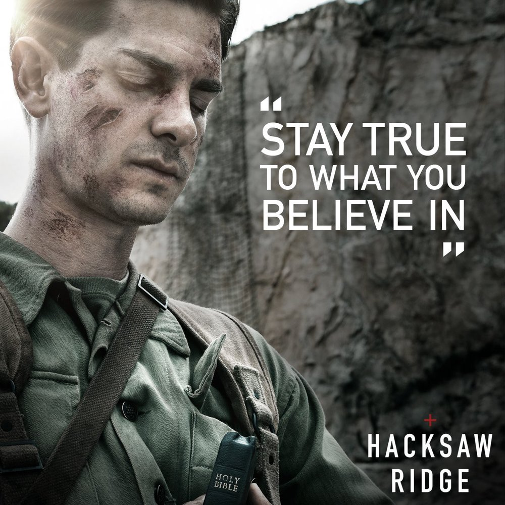 "An actor playing Desmond Doss in Mel Gibson's ""Hacksaw Ridge"""
