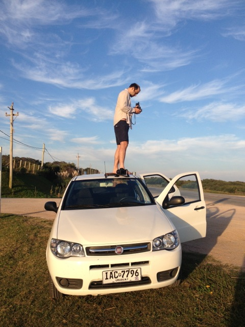 Getting a higher angle on the road in Uruguay.