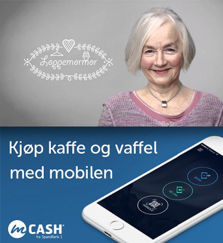 Vipps måte å snakke om betaling av vafler påversus mCash