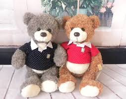 Web Bears 7 Boy and Girl Teddy bear blue red shirts.jpg