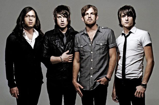 The Kings of Leon (From left to right): Nathan Followill, Matthew Followill, Caleb Follwill, and Jared Followill