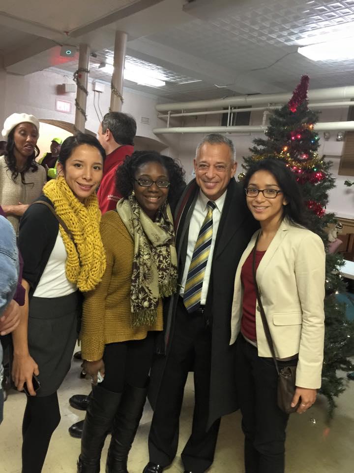 Jessica Reategui, Miarah Jones, Mayor Segarra and Maraget Reategui