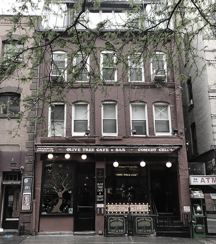 "SWING RENDEZVOUS 117 MACDOUGAL STREET, NEW YORK, NY OPEN 1945-1965 (NOW OLIVE TREE CAFE AND BAR AND THE COMEDY CELLAR, PICTURED) ""In 1945, a lesbian club called Swing Rendevous opened at 117 MacDougal Street. It closed in 1965, as LGBTQ nightlife moved north, towards (you guessed it) Christopher Street. By the 1980s, nightlife had moved out of the Village itself."" (South Village, 2014) ""Kitty Genovese is famous for dying. Her murder made her name synonymous with American selfishness (sometimes called 'The Bystander Effect,') as she was stabbed to death steps from her door while neighbors looked on from the safety of their homes, doing nothing to help. Kitty was killed on March 13, 1964, and for the 50th anniversary of her senseless death, a new book has come out to discuss the act that has been oft-analyzed and never forgotten. But one part of the conversation that is rarely touched upon was the fact that Kitty was a lesbian. Kevin Cook's Kitty Genovese: The Murder, the Bystanders, the Crime That Changed America includes the truth about Kitty's life, the truth left out, the girlfriend that was erased in order for people to 'not get distracted' by the horrifying tragedy that occurred. Mary Ann Zielonko was Kitty's lover, but was called her roommate, her friend during the trial that convicted Kitty's killer, and in any other published reports about Kitty's life and death. Mary Ann is still alive and openly discusses her relationship with Kitty. She shares the kinds of things that she feel safe talking about now, like the couple's love of Greenwich Village ('the one place where I felt like I belonged'), pulp novels and folk music. In the book, Cook writes about New York in 1963, when homosexuality was illegal but underground gay and lesbian bars were popular places, and where Mary Ann first met Kitty: The Swing Rendezvous was an underground club at 117 MacDougal. The Swing had a long wooden bar scored with more initials than a grade-school desk, vinyl platters playing on the PA, multicolored scrims shading the lightbulbs overhead, women of all shapes and sizes crowding the dance floor. The dancers wore Shalimar, Arpege, and L'Aimant. They slow-danced to Piaf, Judy Garland, and Streisand's 'Cry Me a River.' Some slow-danced even when the music changed and everybody else started doing the Twist or the Swim. One night Mary Ann was making her way through the fragrant crowd to the bar when a cute brunette appeared at her elbow, a girl she hadn't seen before. Pegged slacks, a loose blouse, dark tousled hair. 'Don't I know you from somewhere?' the girl asked."" (Trish Bendix, Afterellen.com, 2014)"