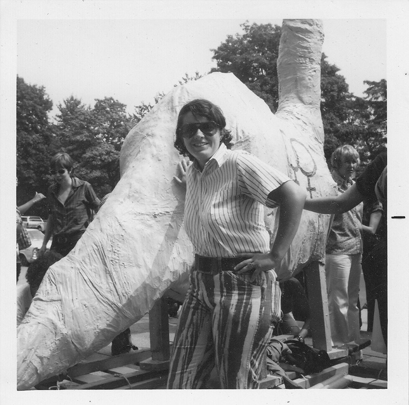 Demonstration at the American Museum of Natural History to protest the lack of inclusion of women in history. On International Women's Day, August 26th, 1973. Image courtesy of Karla Jay.