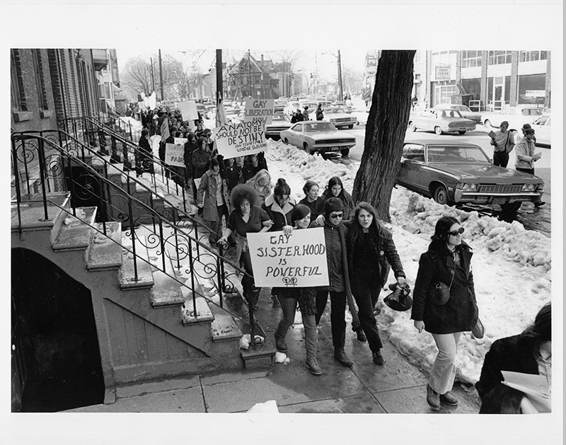 March on Albany in March, 1971 for lesbian and gay rights. Image courtesy of Karla Jay.