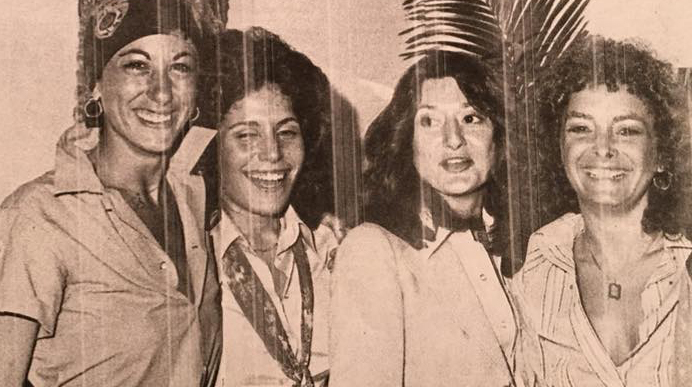 From right to left: Michelle Florea, Linda Goldfarb, Barbara Russo and Leslie Cohen. Image courtesy of Leslie Cohen.