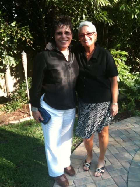 Michelle and Barbara in Florida recently. Image courtesy of Barbara Russo.