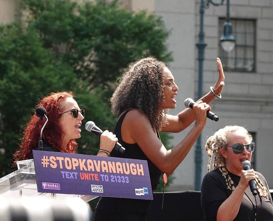 2018 Stop Kavanaugh Rally, NYC. Image courtesy of BETTY Band.