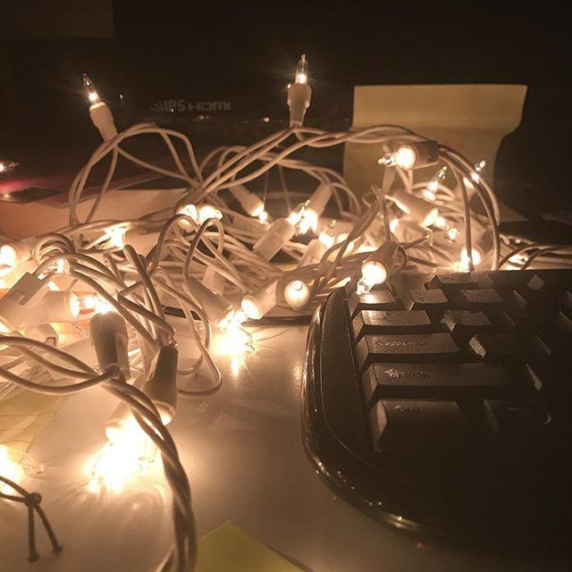 Makeshift desk lamp