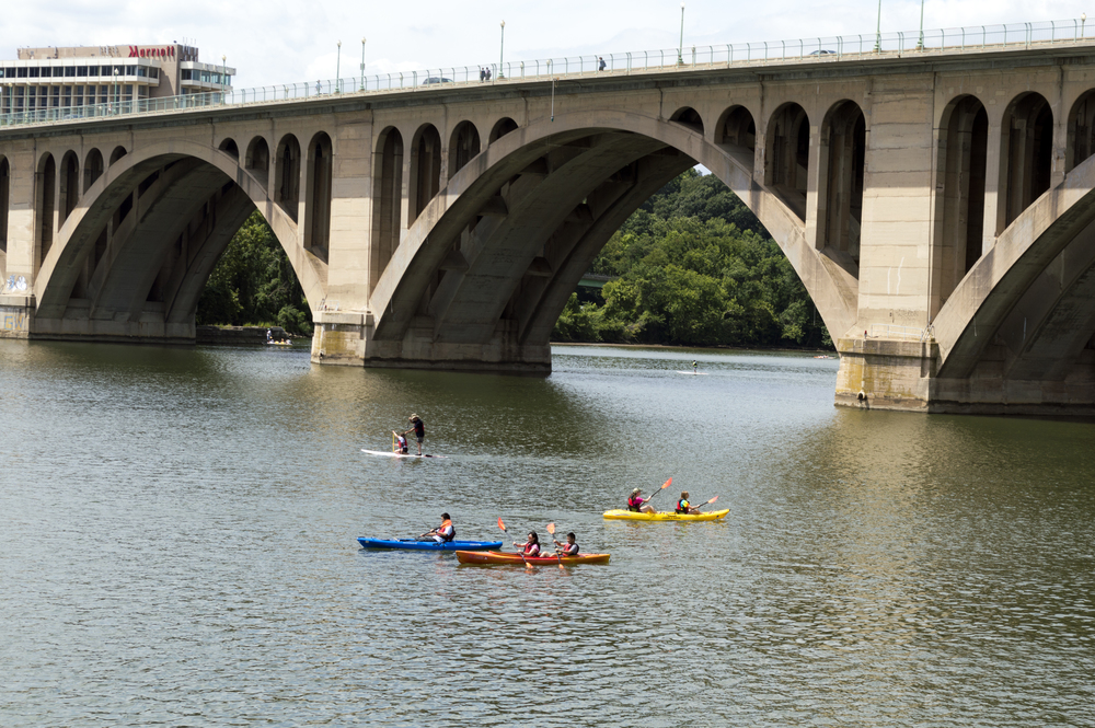 Boaters on the Potomac