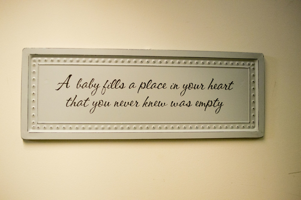 This sign was on the wall right above where the twins lay as we waited for Mommy to come out of the OR.