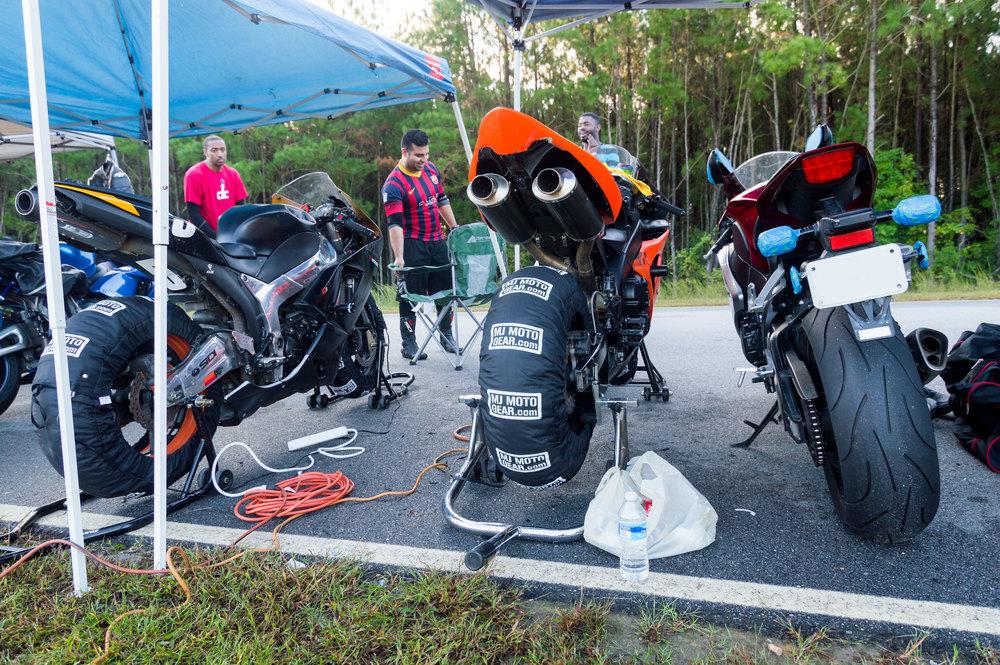 Bikes at ready