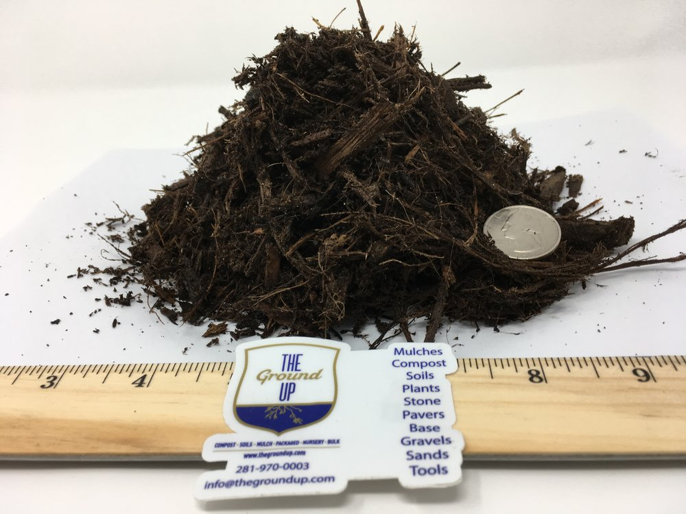 "Hardwood Mulch - Spec - Grind: 1.5"" x 2"" – double ground.Color: Dark brown. Color may vary depending on moisture content.Feedstock: Vegetative debris including logs, twigs, leaves, clippings.Pricing: BULK $27 cuyd 