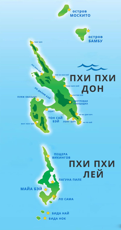 Карта островов ПХИ ПХИ