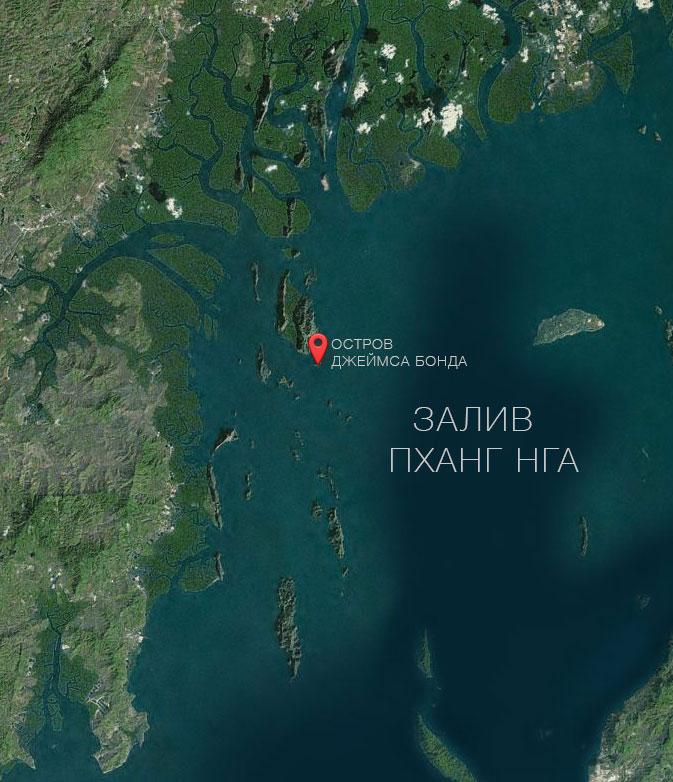 Залив ПХАНГ НГА - карта
