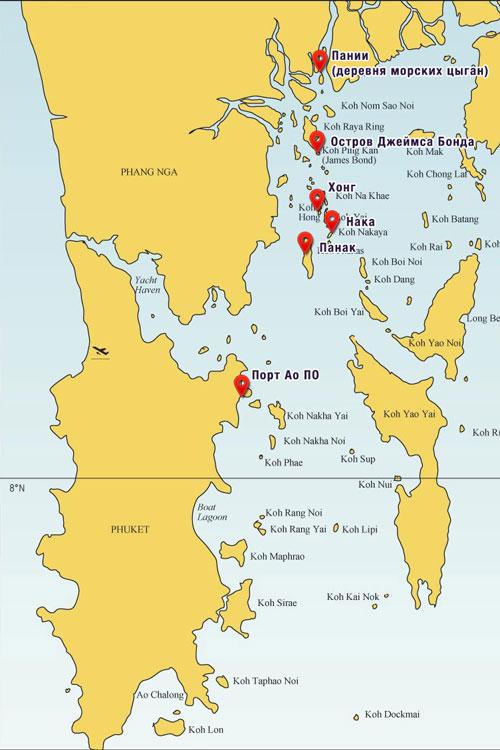 Карта экскурии