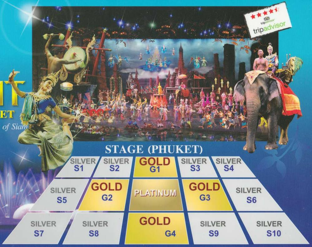 Размещение мест в зрительном зале (серебро, золото, платина)