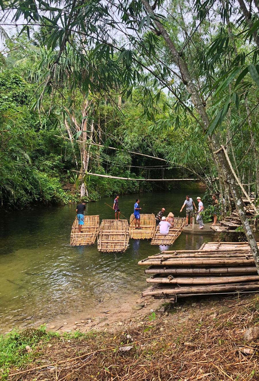 сплав на бамбуковых плотах