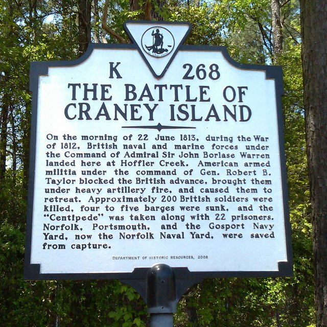 The Battle of Craney Island during the War of 1812