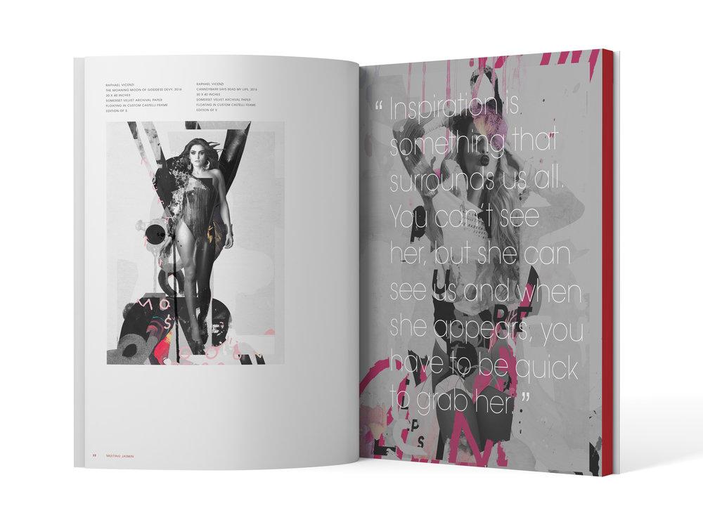 Artwork Showcase + Vellum Overlay  (Spread)