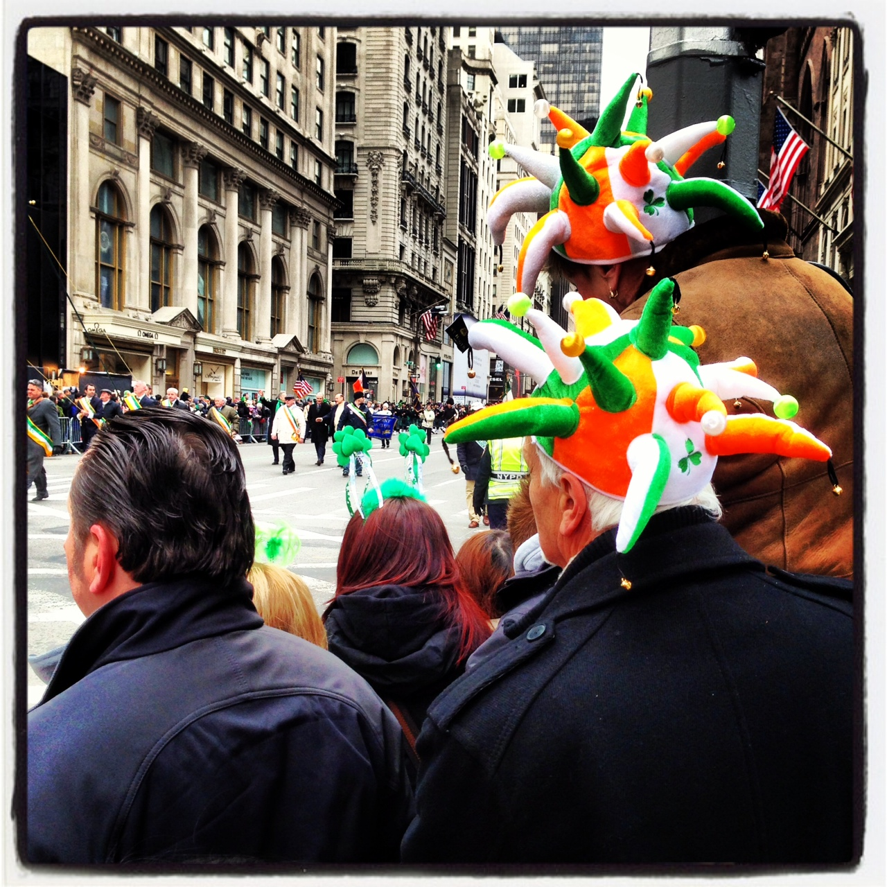The St. Patrick's Day Parade. The people watching was more interesting than that actual parade.