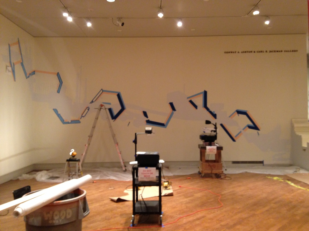 Drawing side after day 2 of installation. Thanks to all who came out to help this is looking amazing!