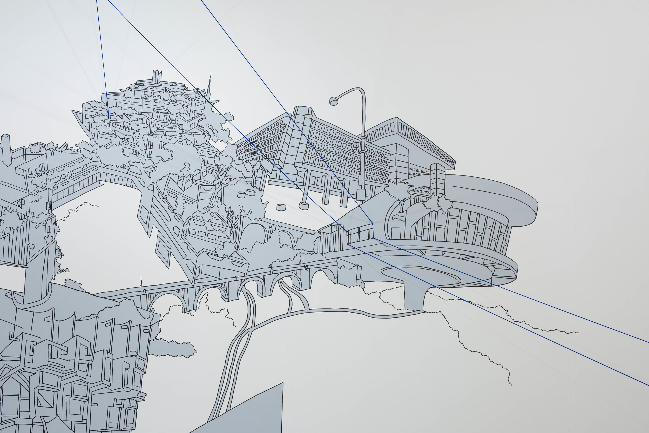 Wall drawings — Kim Schoenstadt