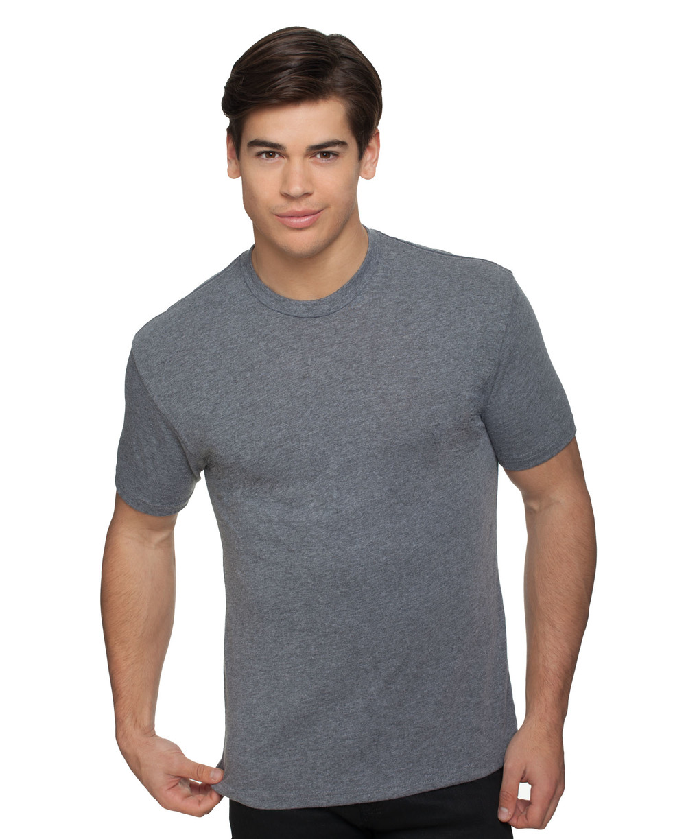 NL6010 / NEXT LEVEL TRI-BLEND TEE   4.3 oz. 50% Poly / 25% Cotton / 25% Rayon Set in collar 1x1 baby rib Satin label       COLOR OPTIONS