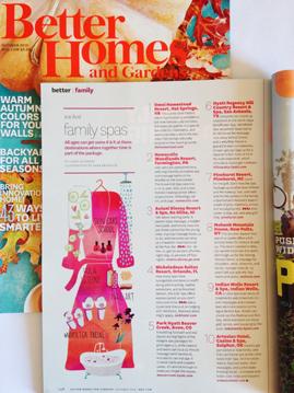 October Spa Illustration / Sara Franklin / Better Homes and Gardens
