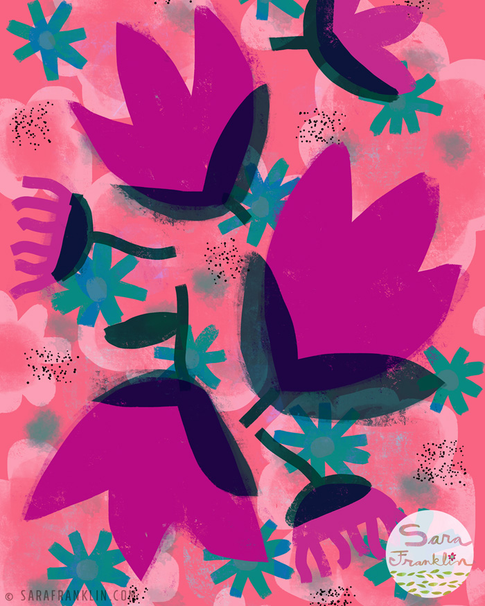 Sara Franklin / Happy / Pattern / Illustration