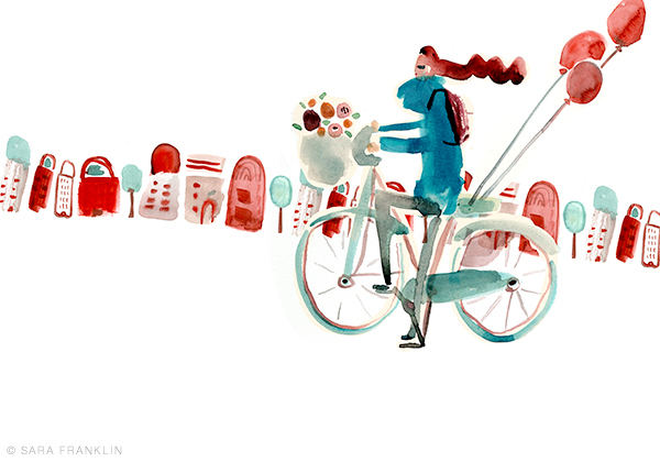 Sara Franklin / Bicycle Girl / Illustration