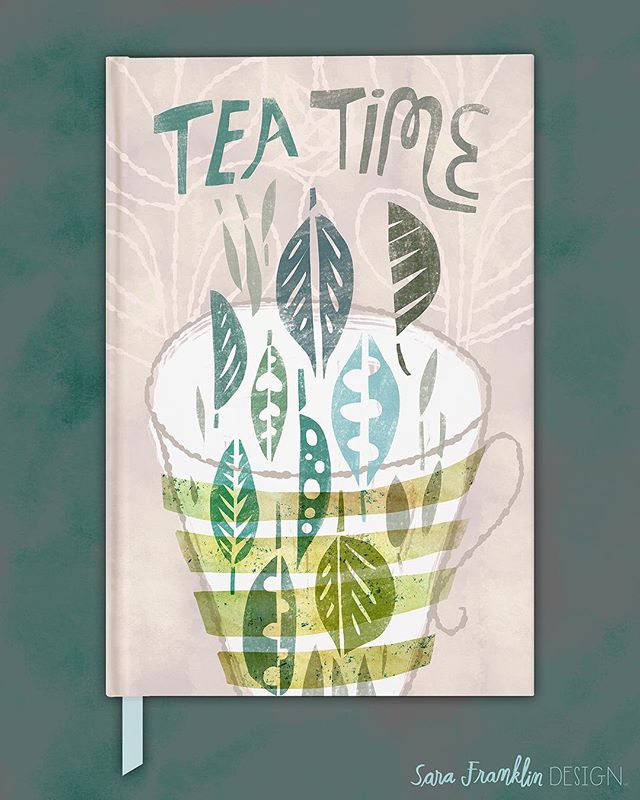 Is it tea time yet?! 🍵 My #journal #coverdesign for #makeartthatsells #matsbootcamp #matsbootcamp2018 #teatime #illustrator