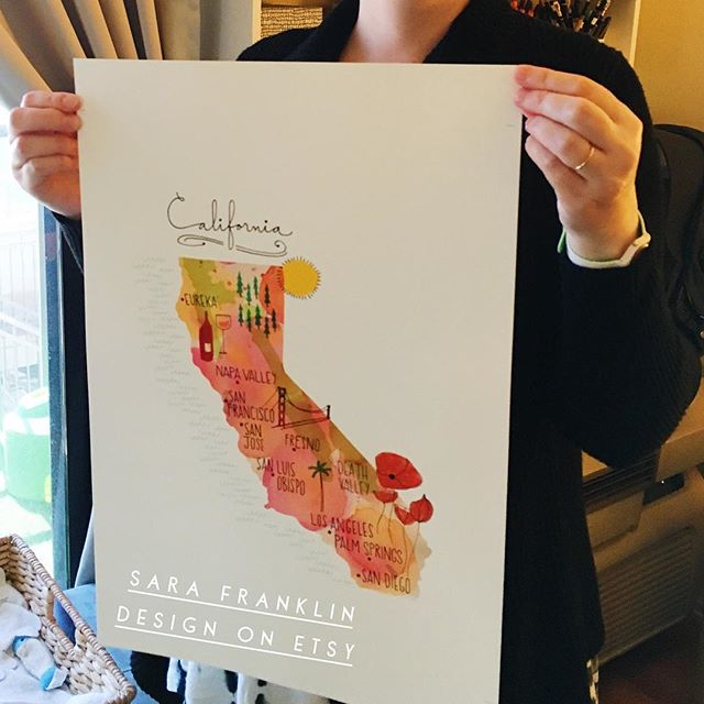 Printing an order on my new printer!! 🌴 Yes, the California map is going large!! #nowavailable #walldecor #artprints #wallart #etsyshop #nowshipping #mapillustration #californiamap #print #largesize #12x16 #linkinbio 😎