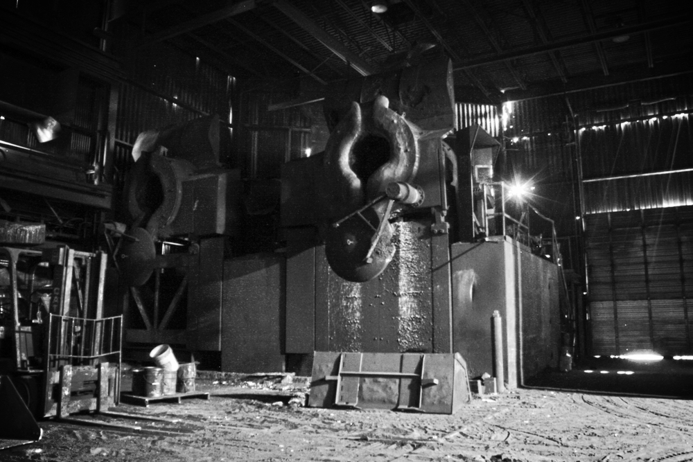 One of the foundry's furnaces.