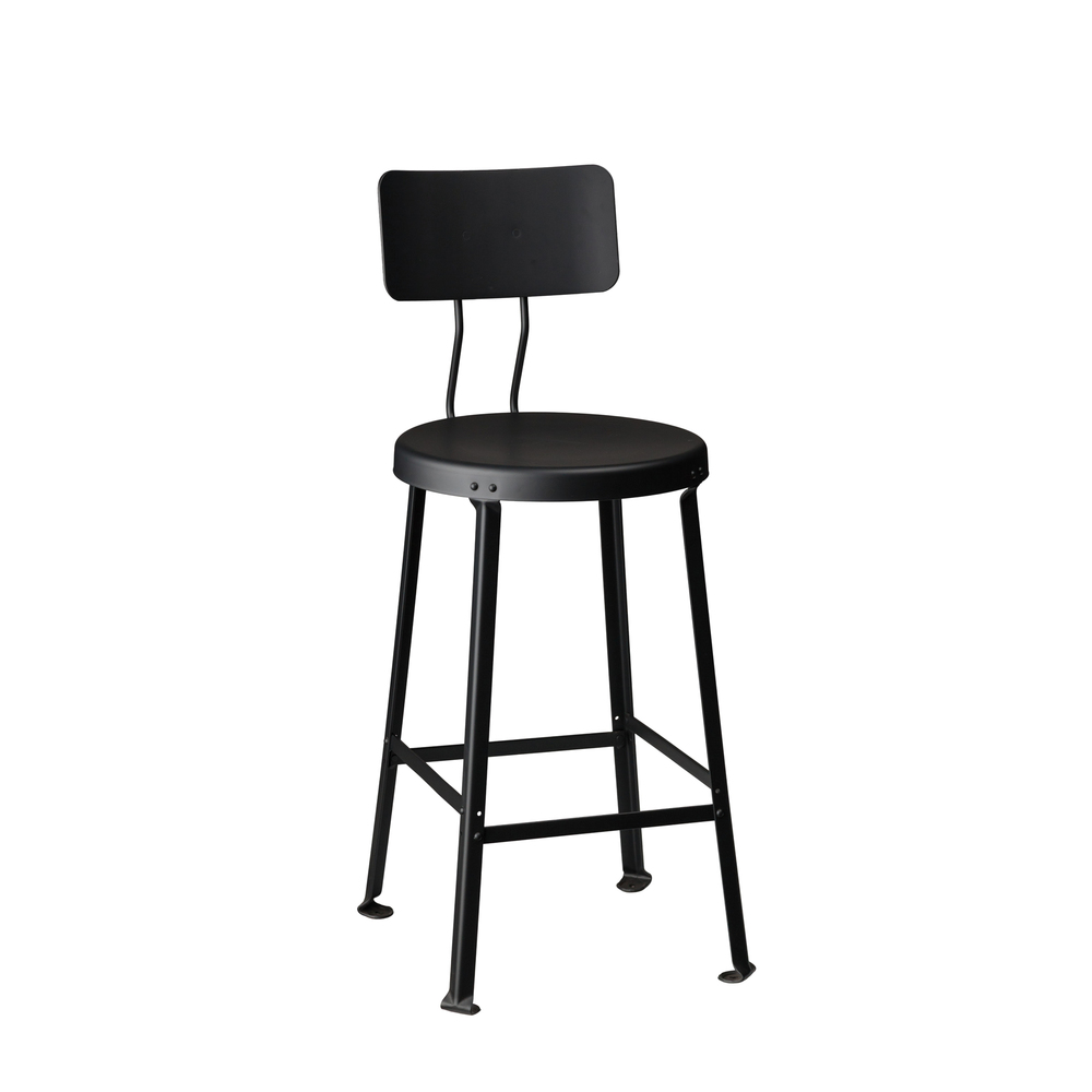 "ONE TON STOOL // 24"" SEAT HEIGHT / WITH BACK"