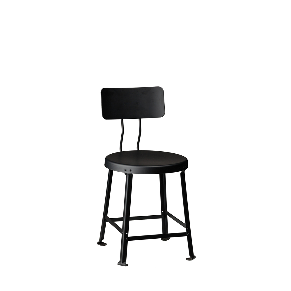 "ONE TON STOOL // 18"" SEAT HEIGHT / WITH BACK"
