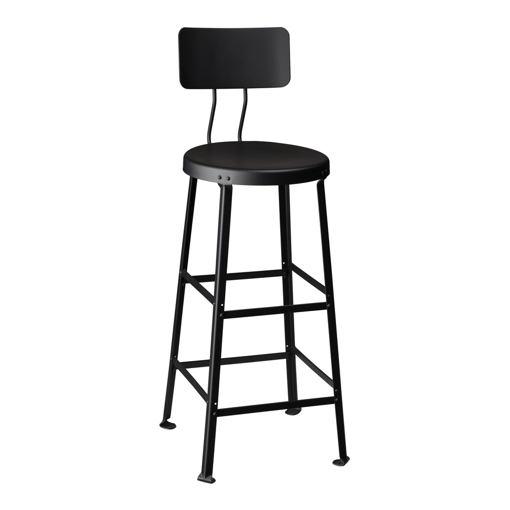 "ONE TON STOOL // 30"" SEAT HEIGHT / WITH BACK"