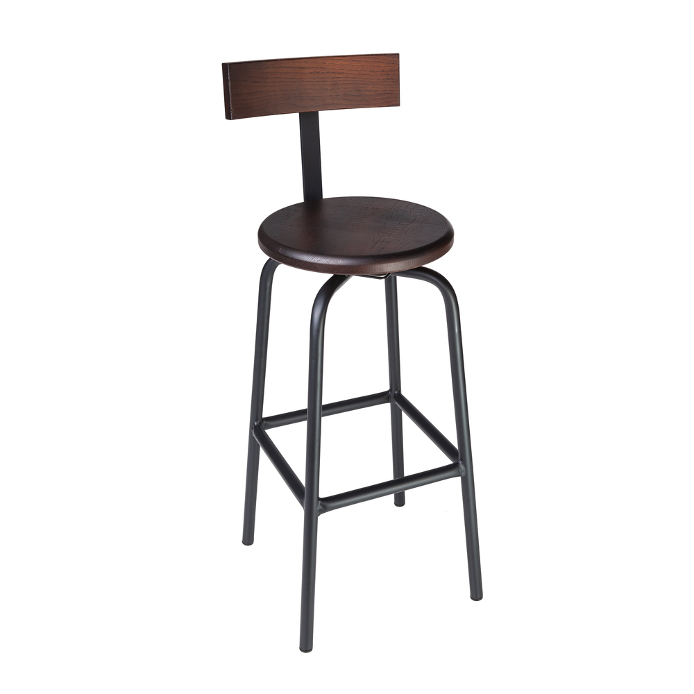 "SWIVEL PUB STOOL // 30"" HEIGHT / WITH BACK"
