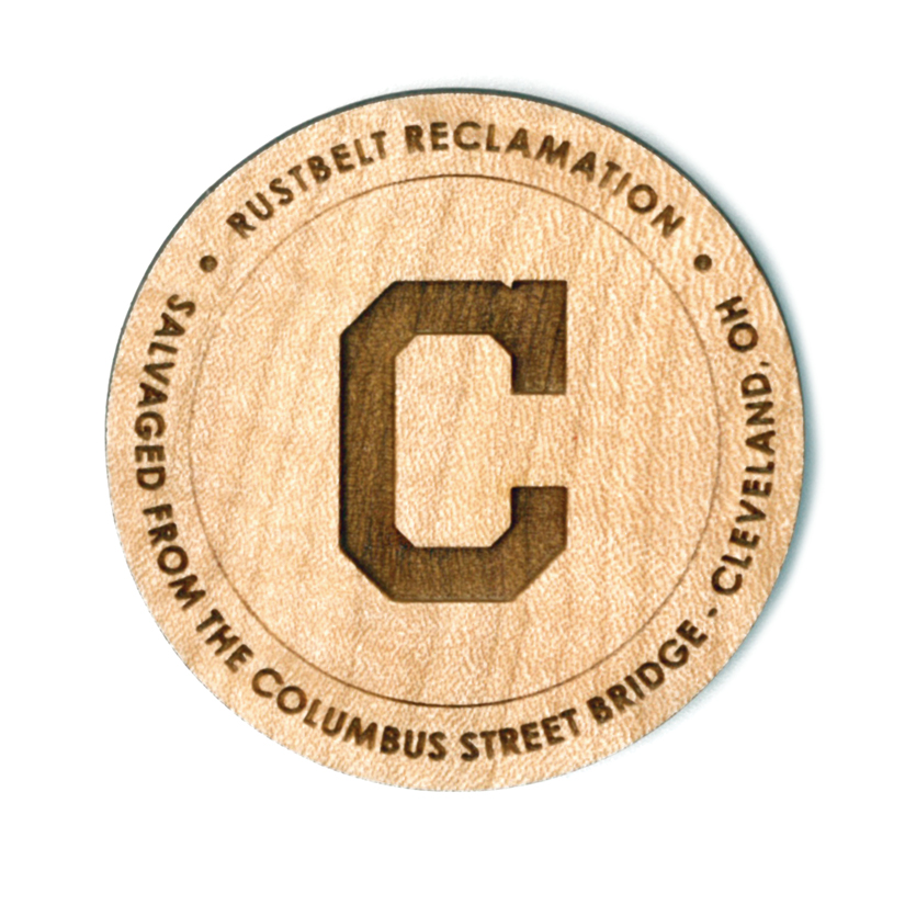 "CLEVELAND INDIANS ""C"" - 2""Ø MAPLE"